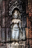 Bas relief at ancient temple near Siem Reap, Cambodia Stock Image