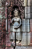 Bas relief at ancient temple near Siem Reap, Cambodia Stock Photography