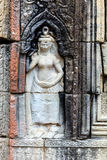 Bas relief at ancient temple near Siem Reap, Cambodia Royalty Free Stock Photography