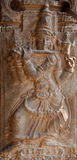 Bas relief in ancient Hindu temple Royalty Free Stock Photography
