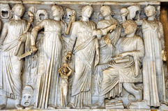 Bas-relief of ancient Roman Gods Royalty Free Stock Photos