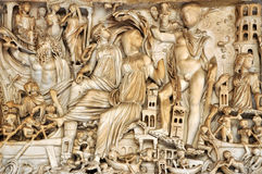 Bas-relief of ancient Roman Gods Stock Photography