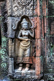 Bas relief at ancient temple near Siem Reap, Cambodia Stock Photos