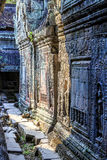 Bas relief at ancient temple near Siem Reap, Cambodia Royalty Free Stock Image