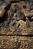 Bas-relief- Angkor, Cambodia Royalty Free Stock Photography