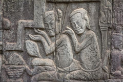 Bas-relief of Angkor, cambodia Stock Images