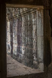 Bas-relief of Angkor, cambodia Royalty Free Stock Images