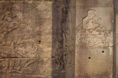 Bas-relief of Angkor, cambodia Stock Photography