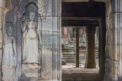 Bas-relief of Angkor, cambodia Royalty Free Stock Image