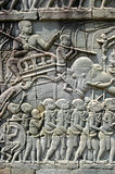 Bas-relief at Angkor Wat Royalty Free Stock Images
