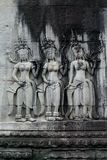 Bas-relief at Angkor Wat Royalty Free Stock Image
