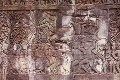 Bas-relief at Angkor wat Royalty Free Stock Photos