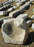 Bas-relief antigo em Hieropolis (Turquia) Fotos de Stock Royalty Free