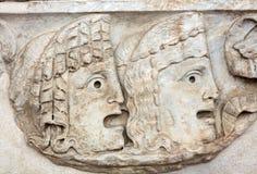 Bas-relief antique dans les bains de Diocletian à Rome Photographie stock libre de droits
