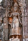 Bas relief of aspara in Angkor wat Stock Photography