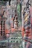 Bas relief of aspara in Angkor wat Royalty Free Stock Image