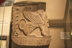 Bas relief. Assyrian bas relief of a griffin Royalty Free Stock Photo