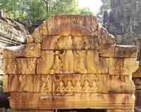 Bas-relief au temple antique de som de ventres Photos stock