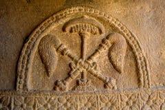 Bas Relief av Chatra och Chamaras arkivbild