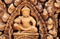 Bas-relief Banta Srei Imagen de archivo