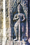 Bas-Relief at Banteay Kdei Temple, Cambodia Stock Photos
