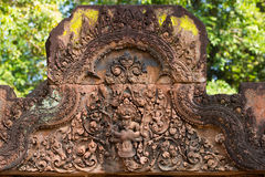 Bas relief in Banteay Srei Royalty Free Stock Images