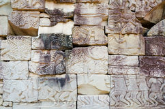 Bas relief at Bayon in Angkor, Cambodia Stock Image