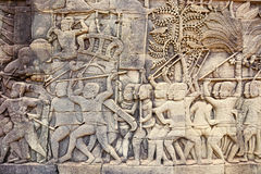 Bas-relief in Bayon Royalty Free Stock Photography