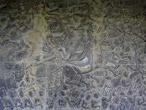 Bas-relief from Bayon temple in Cambodgia Stock Photography