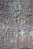 Bas relief in Bayon temple Stock Photography