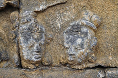 Bas-Relief  in Borobudur Temple. Jogjakarta Stock Photography