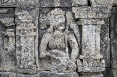 Bas-Relief  in Borobudur Temple. Jogjakarta Stock Photos