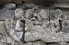 Bas-Relief  in Borobudur Temple. Jogjakarta Stock Images