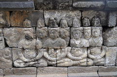 Bas-Relief  in Borobudur Temple. Jogjakarta Royalty Free Stock Photo