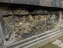 Bas relief, Borobudur Temple, Location in Central Java Stock Photography