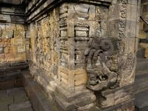 Bas relief, Borobudur Temple, Location in Central Java Royalty Free Stock Images