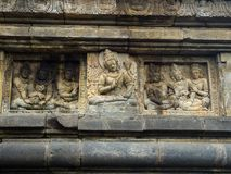 Bas relief, Borobudur Temple, Location in Central Java Royalty Free Stock Photo