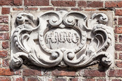 Bas Relief Bruges Belgium Fotografia de Stock Royalty Free