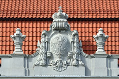 Bas-relief on the building Konigsberg higher regional court. Kal Stock Photography