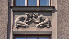 Bas relief on building wall in Lviv, Ukraine Royalty Free Stock Images