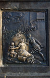 Bas relief on Charles bridge Stock Images