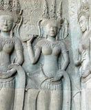 Bas-relief chez Angkor Wat Image stock