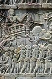 Bas-relief chez Angkor Wat Images libres de droits