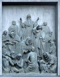 Bas-relief Christianization of Kievan Rus Stock Image