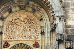 Bas-relief On Church Of Our Lady Before Tyn In Prague, Czech Rep Royalty Free Stock Photography