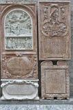 Bas relief closeup in St. Peter Collegiate Church. Salzburg, Austria. Stock Image