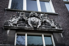 Bas-relief of the coat of arms of Amsterdam Royalty Free Stock Photography