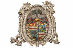 Bas-relief. Coat of arms knight Royalty Free Stock Image