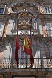 Bas-relief of the coat of arms of Spain on the Plaza Mayor Royalty Free Stock Image
