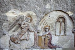 Bas relief from Coptic Church Royalty Free Stock Images